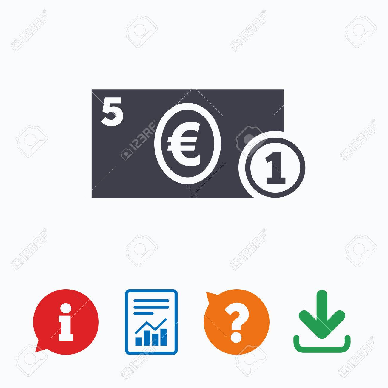 Cash sign icon euro money symbol eur coin and paper money cash sign icon euro money symbol eur coin and paper money information think buycottarizona Gallery