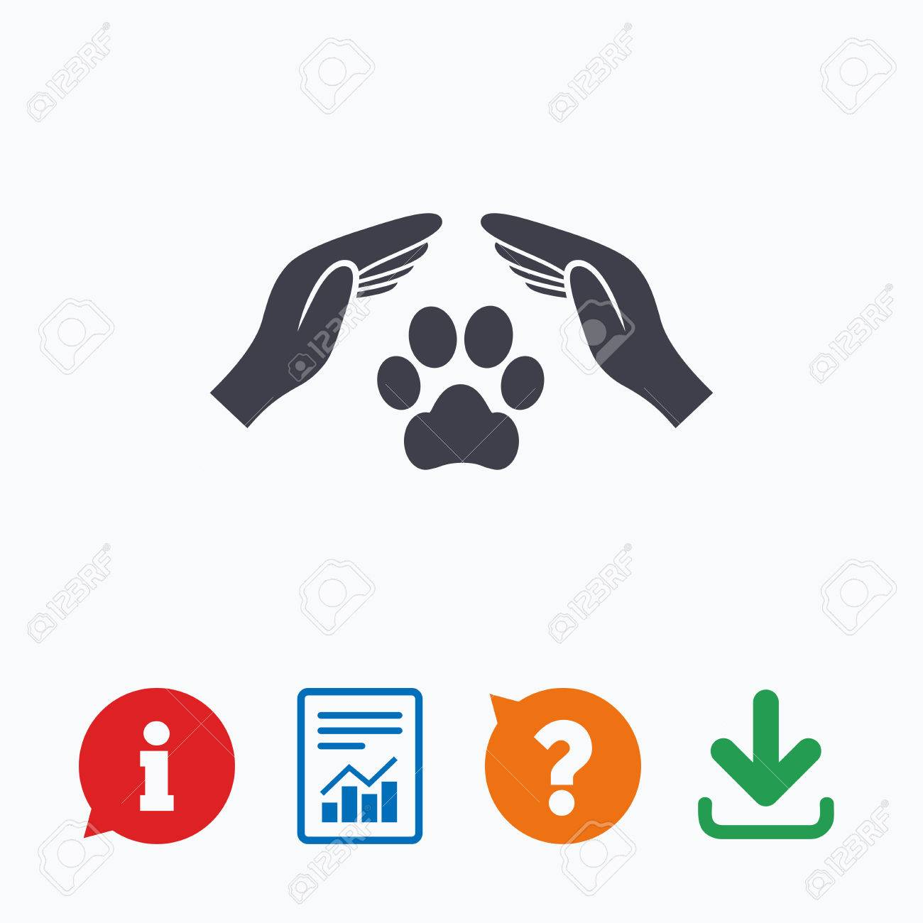 Protection of animals sign icon hands protect paw symbol shelter protection of animals sign icon hands protect paw symbol shelter for dogs animals biocorpaavc