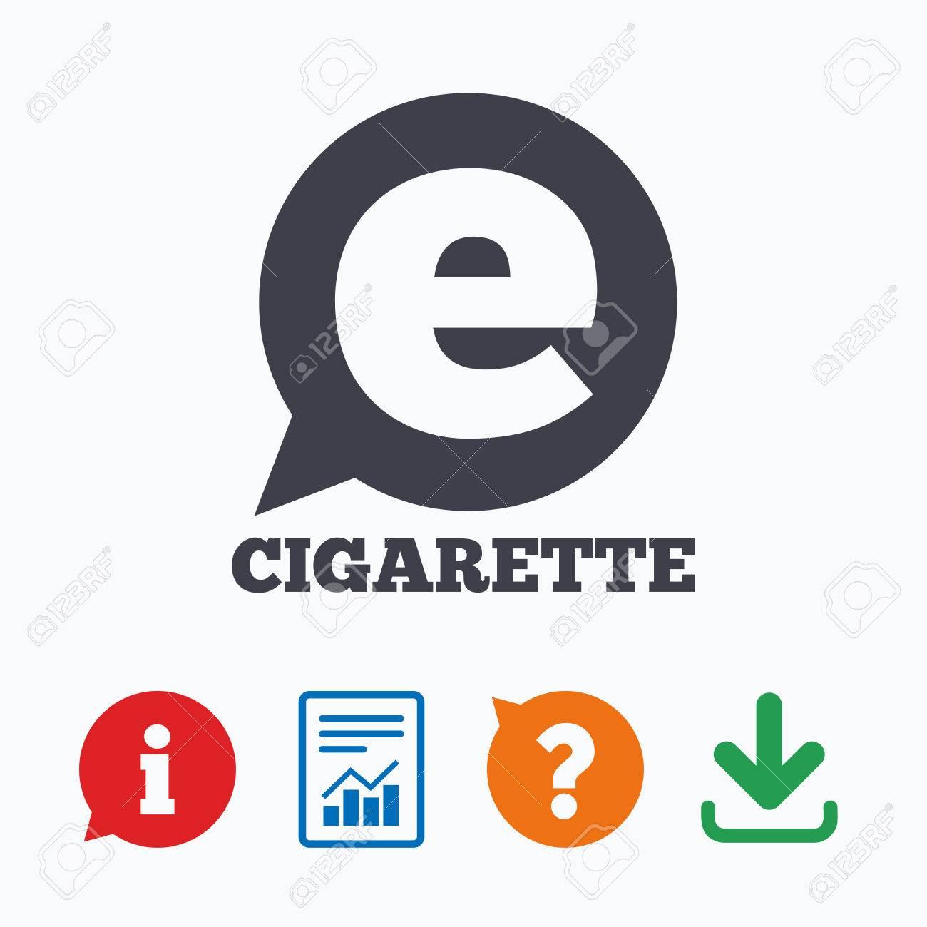 smoking sign icon e cigarette symbol electronic cigarette