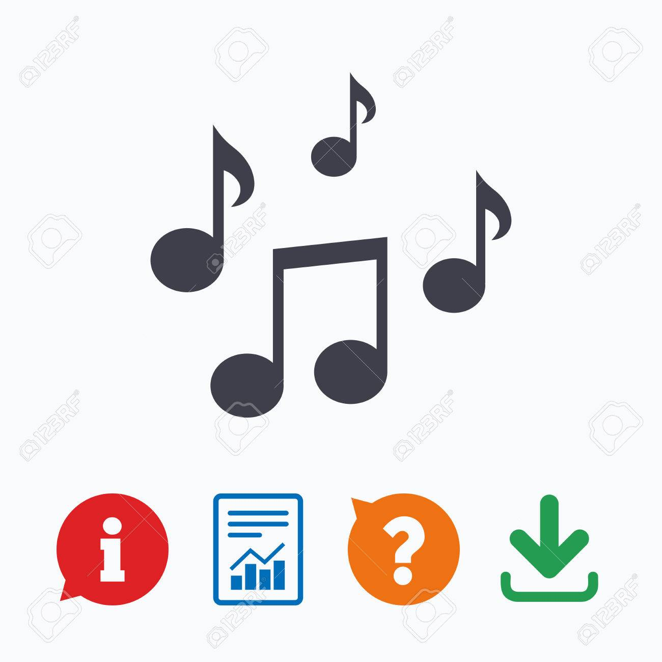 music notes sign icon musical symbol information think bubble rh 123rf com music notes vector art free download music notes heart shape vector free download