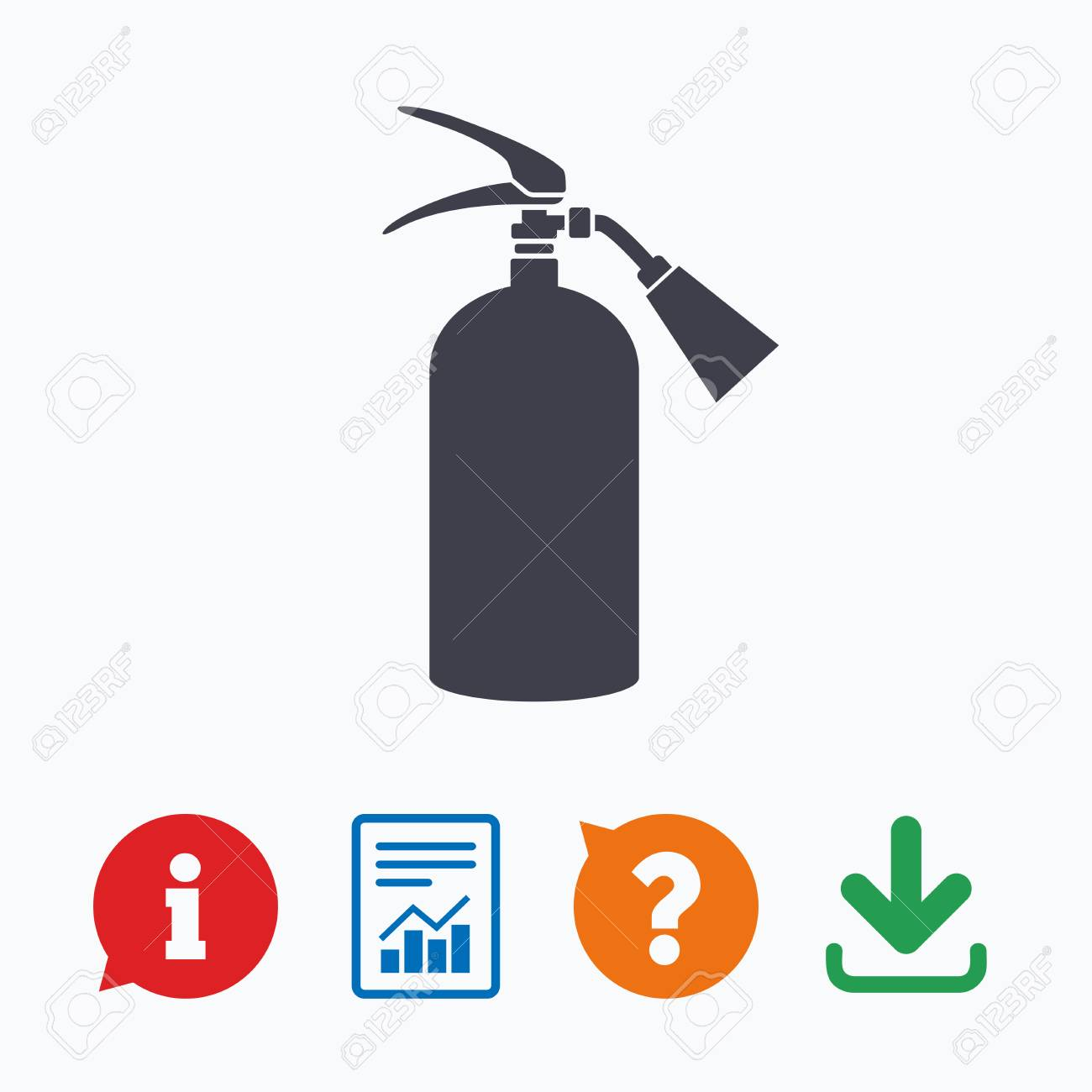 Fire Extinguisher Sign Icon Fire Safety Symbol Information