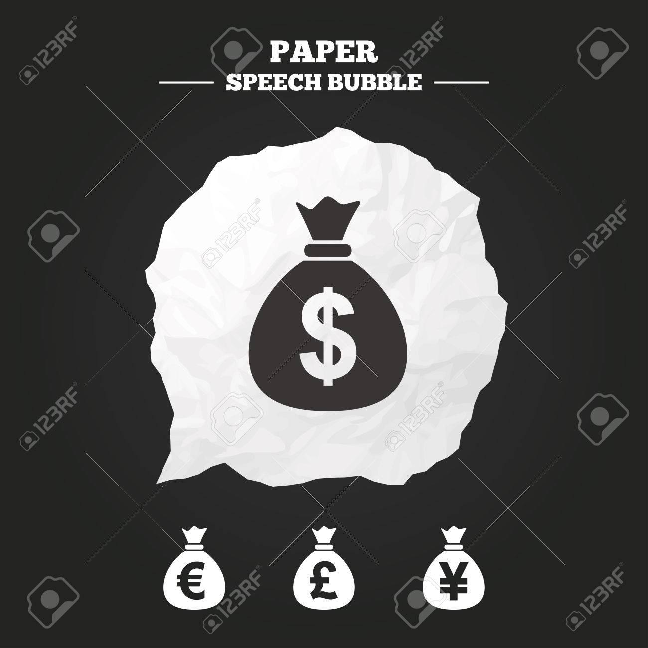 Money bag icons dollar euro pound and yen symbols usd eur money bag icons dollar euro pound and yen symbols usd eur biocorpaavc Gallery
