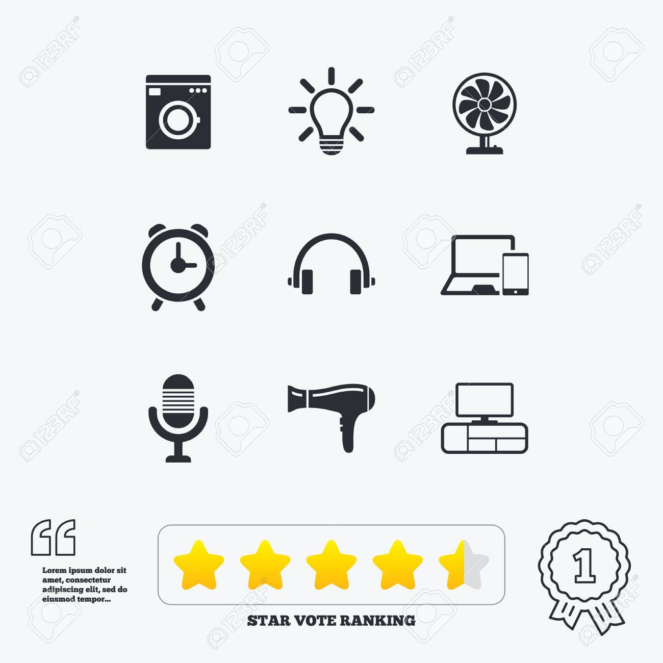 Home appliances device icons ventilator sign hairdryer washing home appliances device icons ventilator sign hairdryer washing machine and lamp symbols biocorpaavc Image collections