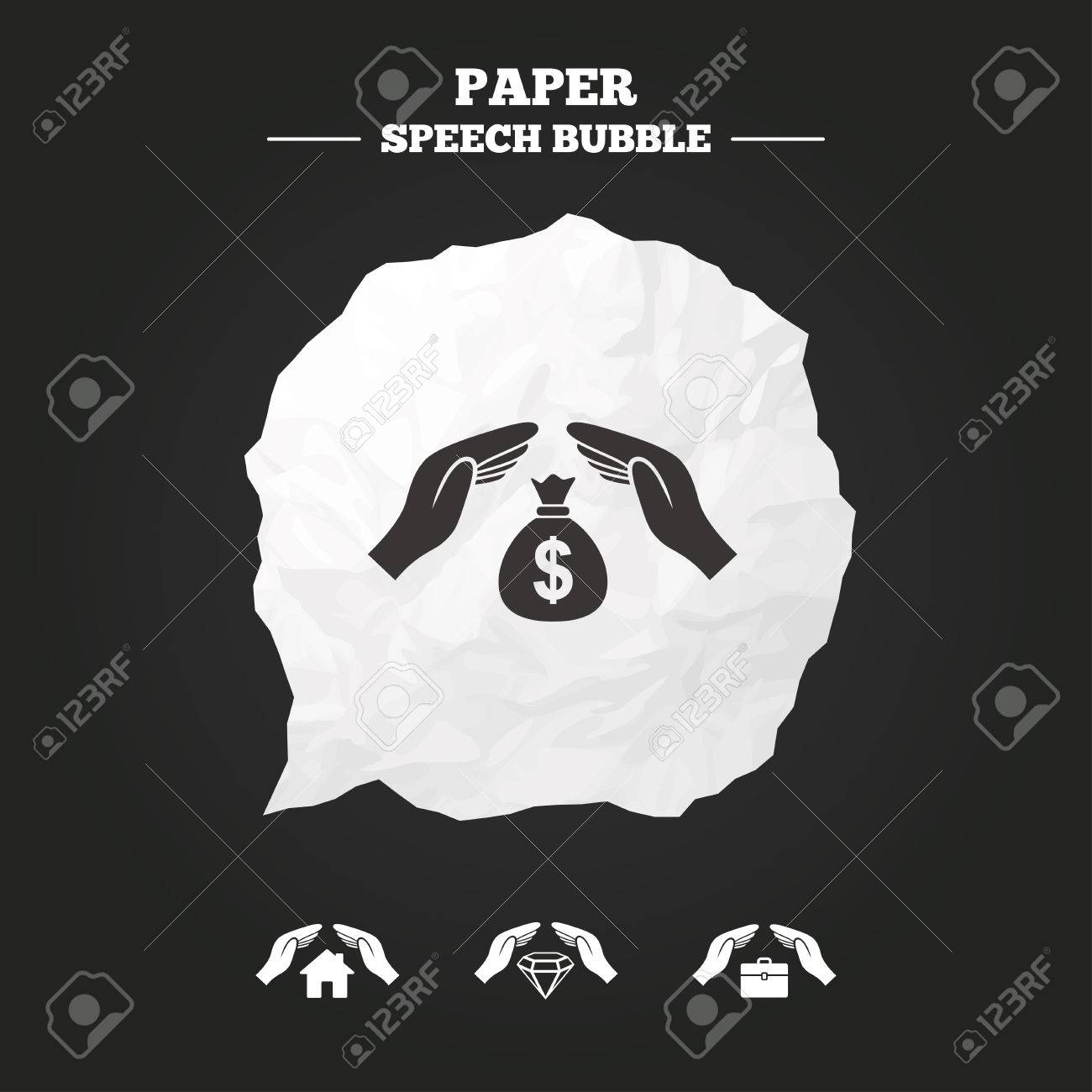 Hands insurance icons money bag savings insurance symbols hands insurance icons money bag savings insurance symbols jewelry diamond symbol house property biocorpaavc