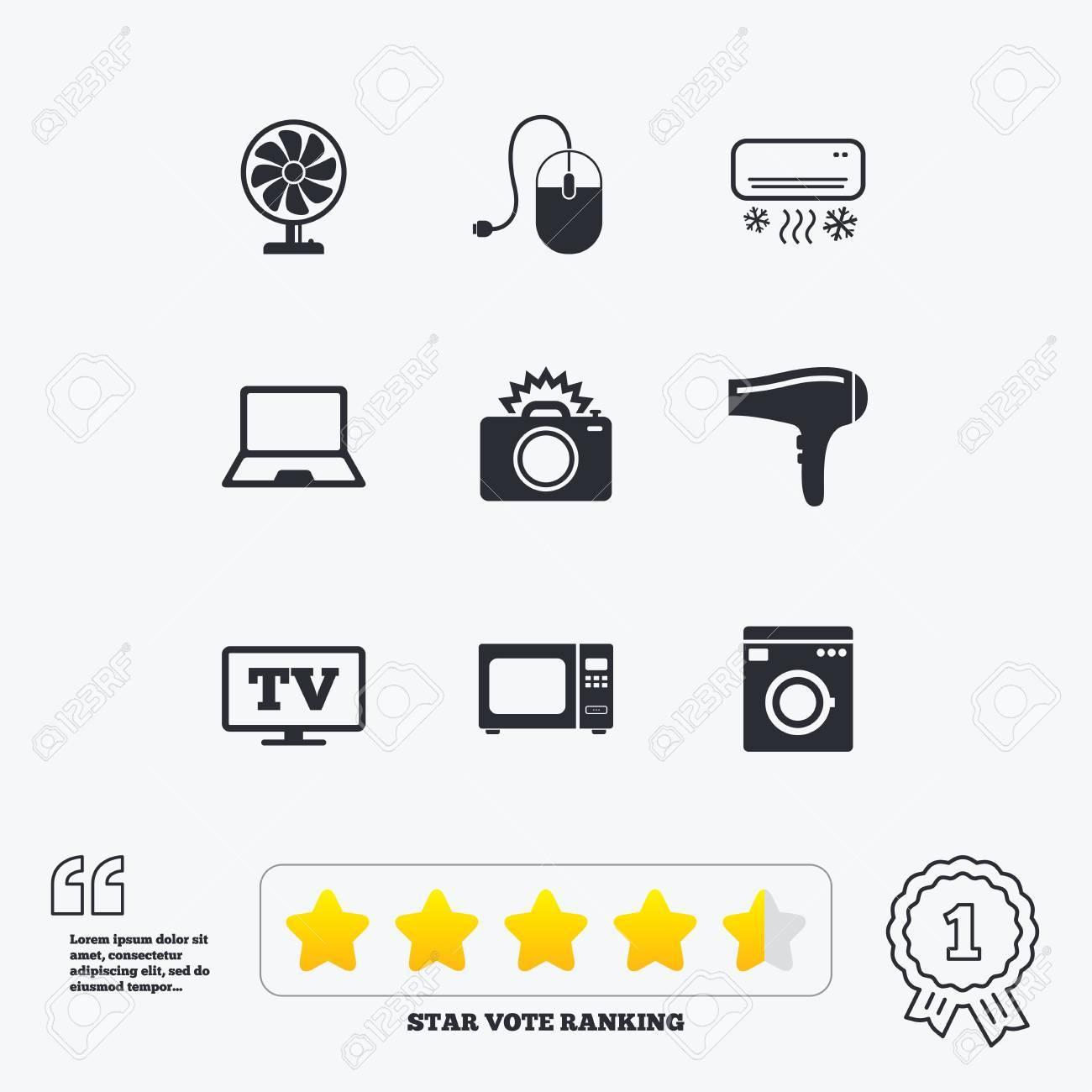 Haushaltsgeräte Geräte Icons Elektronik Zeichen Klimaanlage