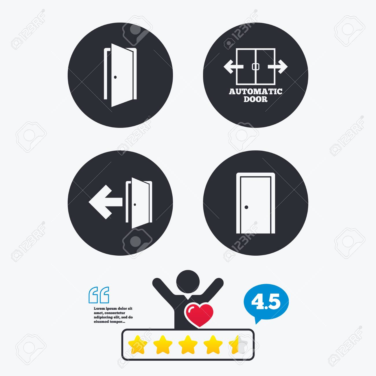 Automatic door icon emergency exit with arrow symbols fire exit emergency exit with arrow symbols fire exit signs star vote buycottarizona Images