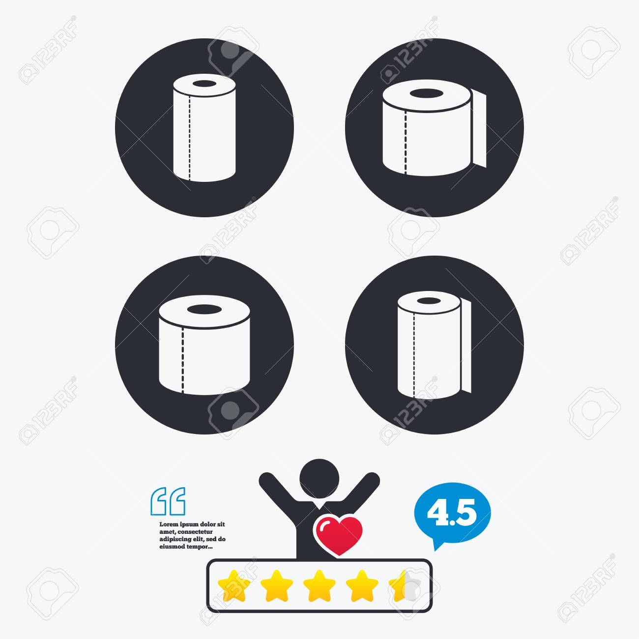 Toilet paper icons kitchen roll towel symbols wc paper signs kitchen roll towel symbols wc paper signs star vote ranking buycottarizona Choice Image