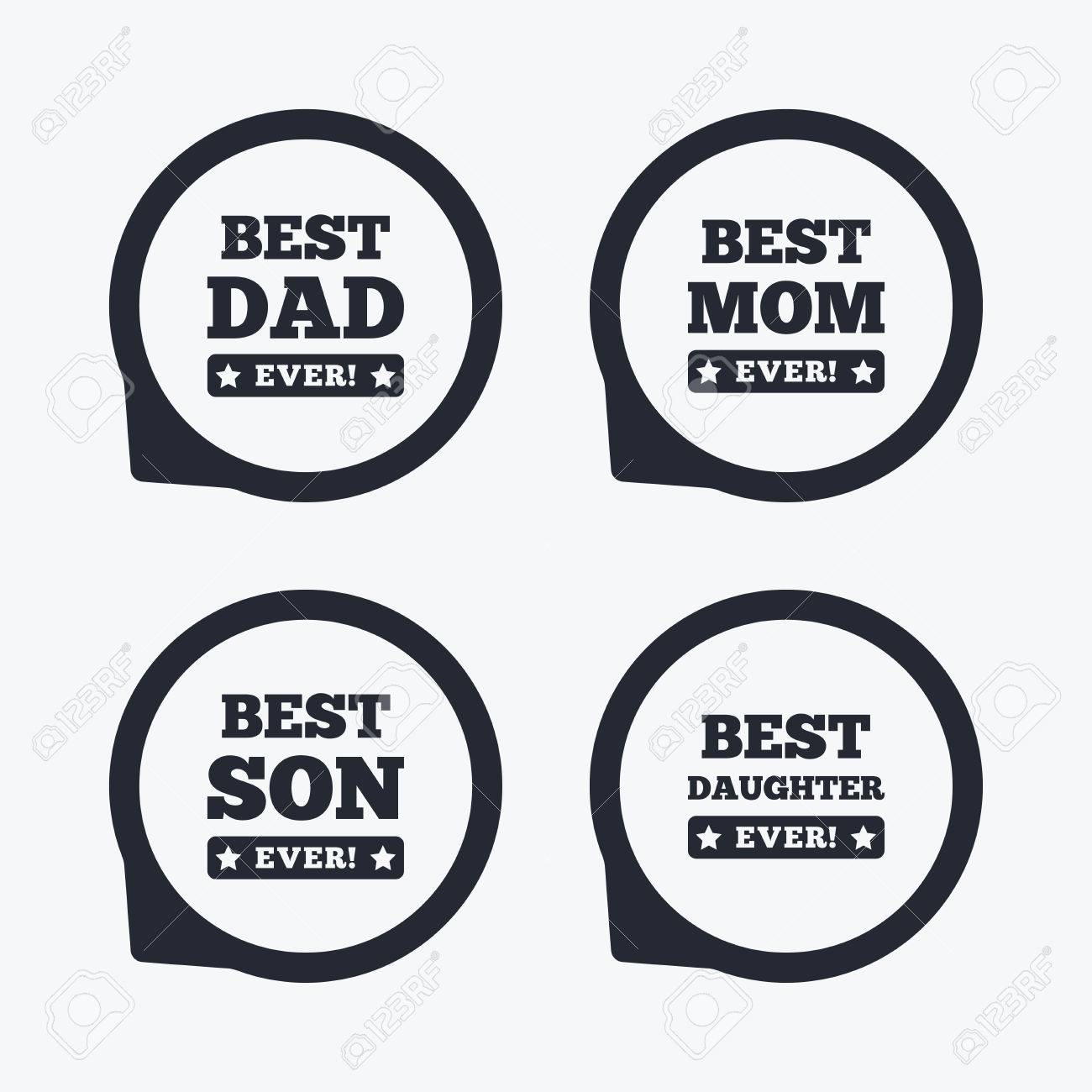 Best Mom And Dad Son And Daughter Icons Awards With Exclamation