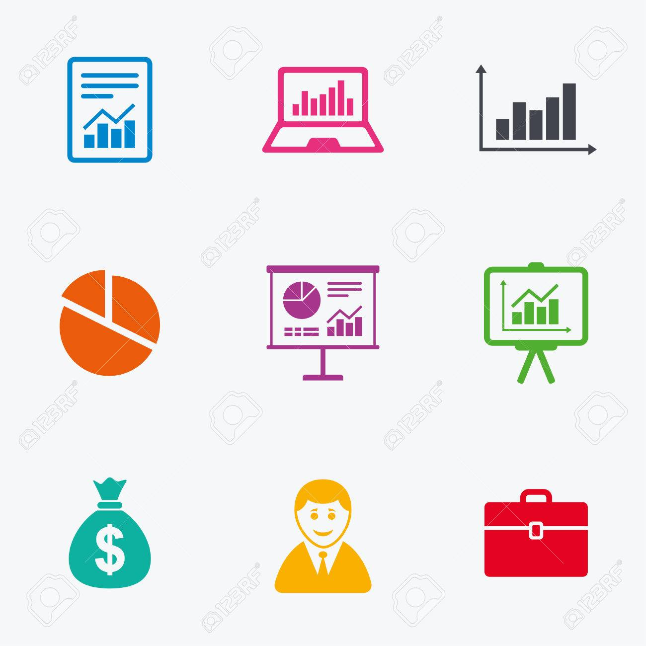 Statistics accounting icons charts presentation and pie chart statistics accounting icons charts presentation and pie chart signs analysis report geenschuldenfo Choice Image