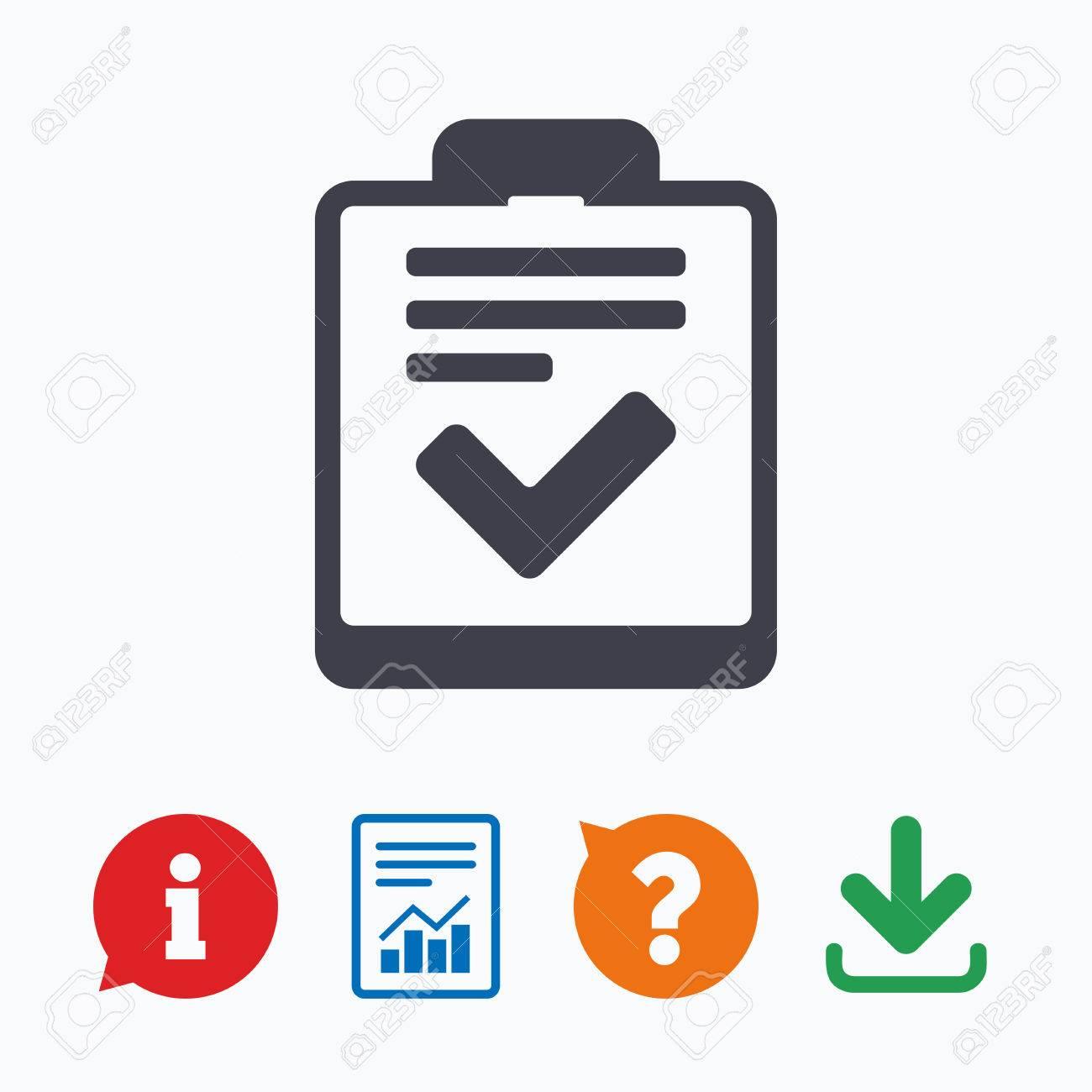 Checklist Sign Icon Control List Symbol Survey Poll Or