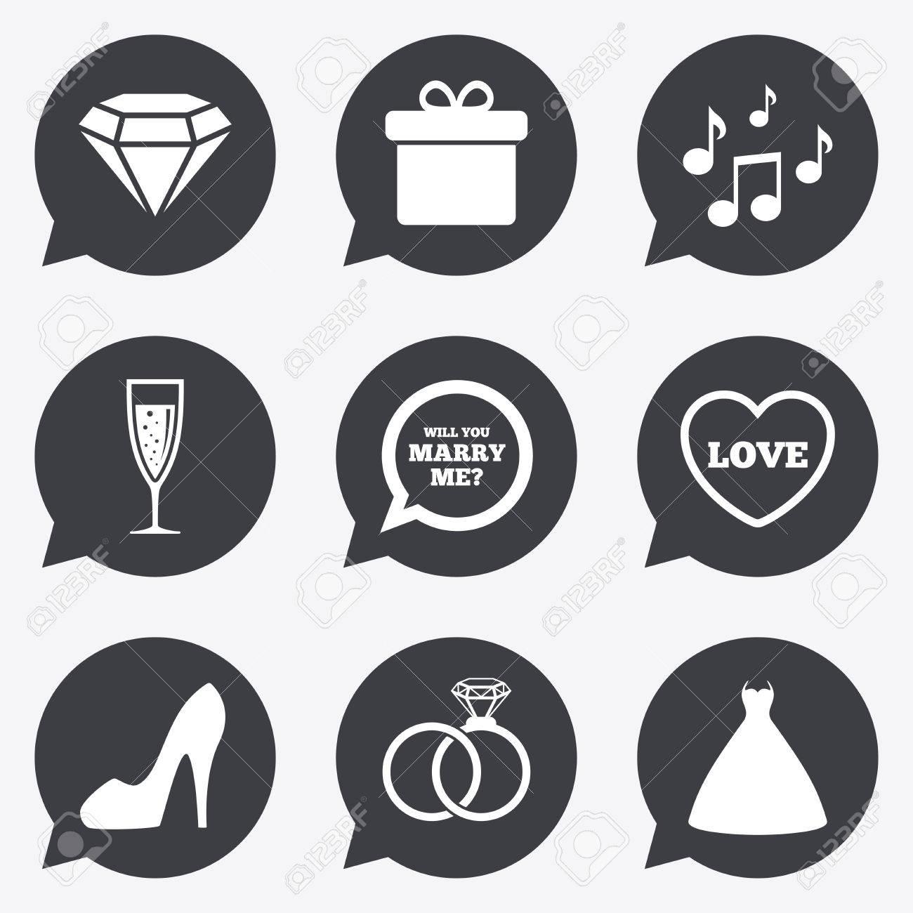 Hochzeit Engagement Symbole Ringe Geschenk Box Und Glanzenden