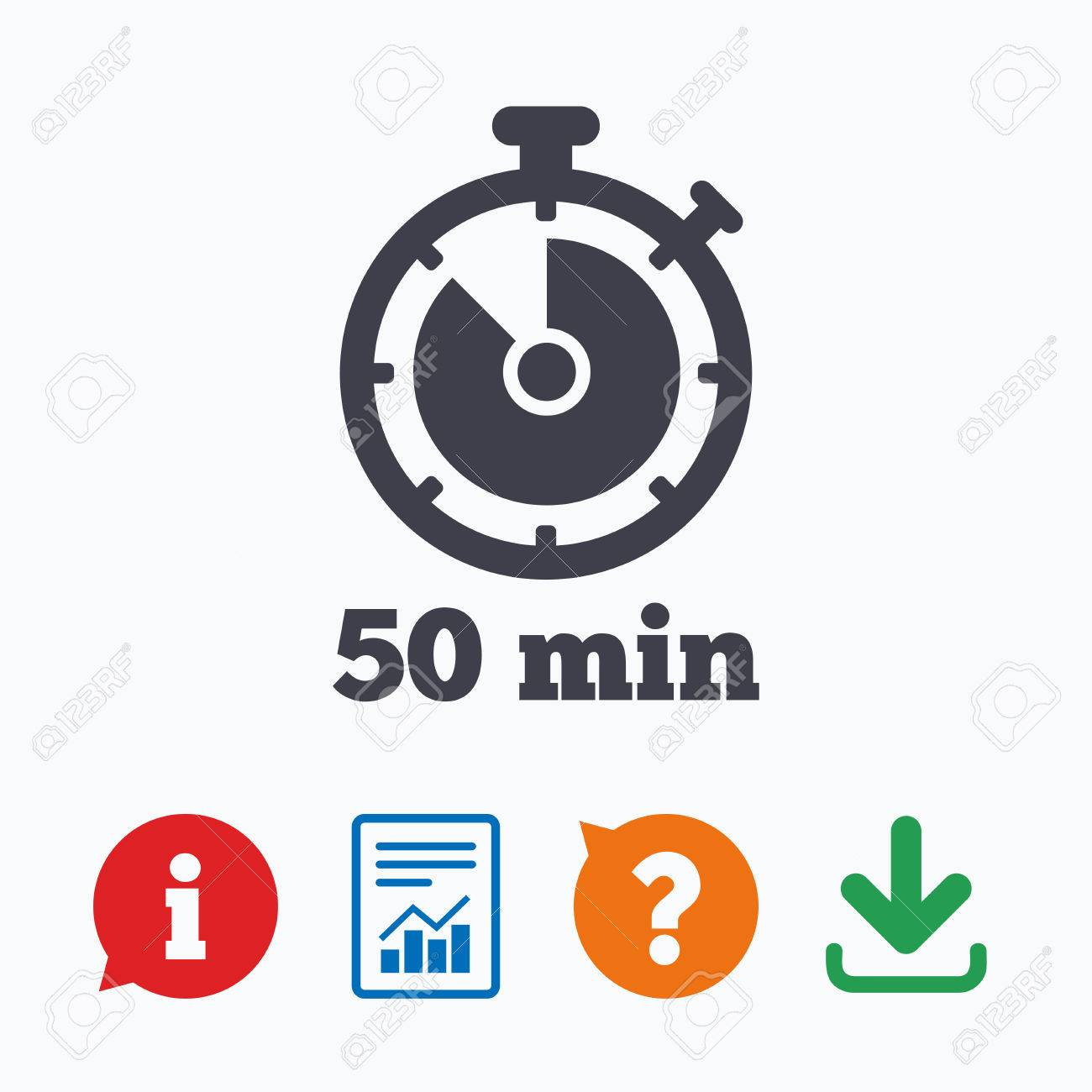 Timer sign icon 50 minutes stopwatch symbol information think timer sign icon 50 minutes stopwatch symbol information think bubble question mark publicscrutiny Image collections