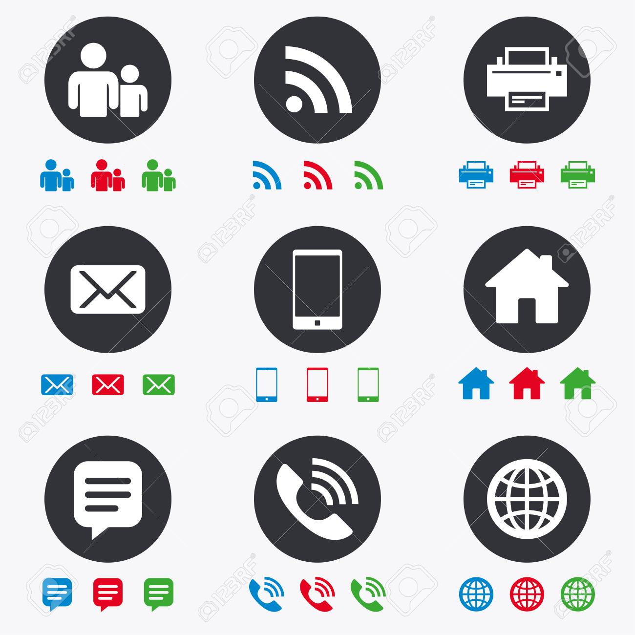 Contact Mail Icons Communication Signs E Mail Chat Message