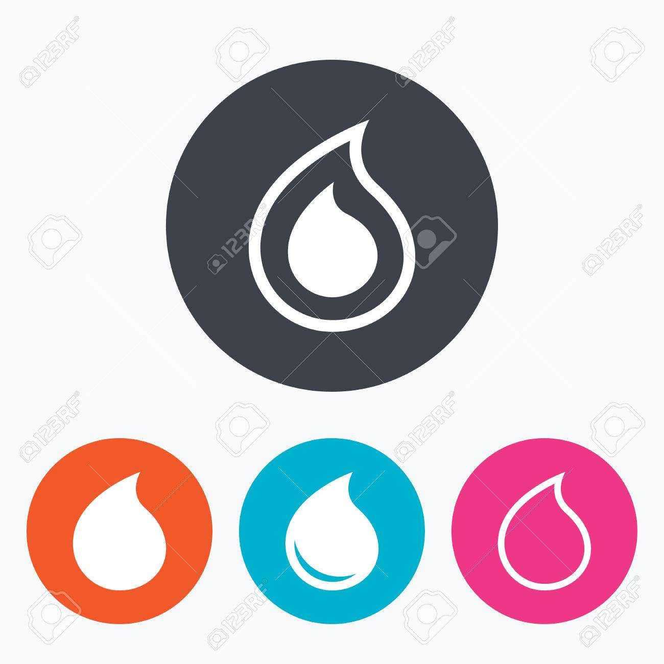 Water drop icons tear or oil drop symbols circle flat buttons tear or oil drop symbols circle flat buttons with icon buycottarizona