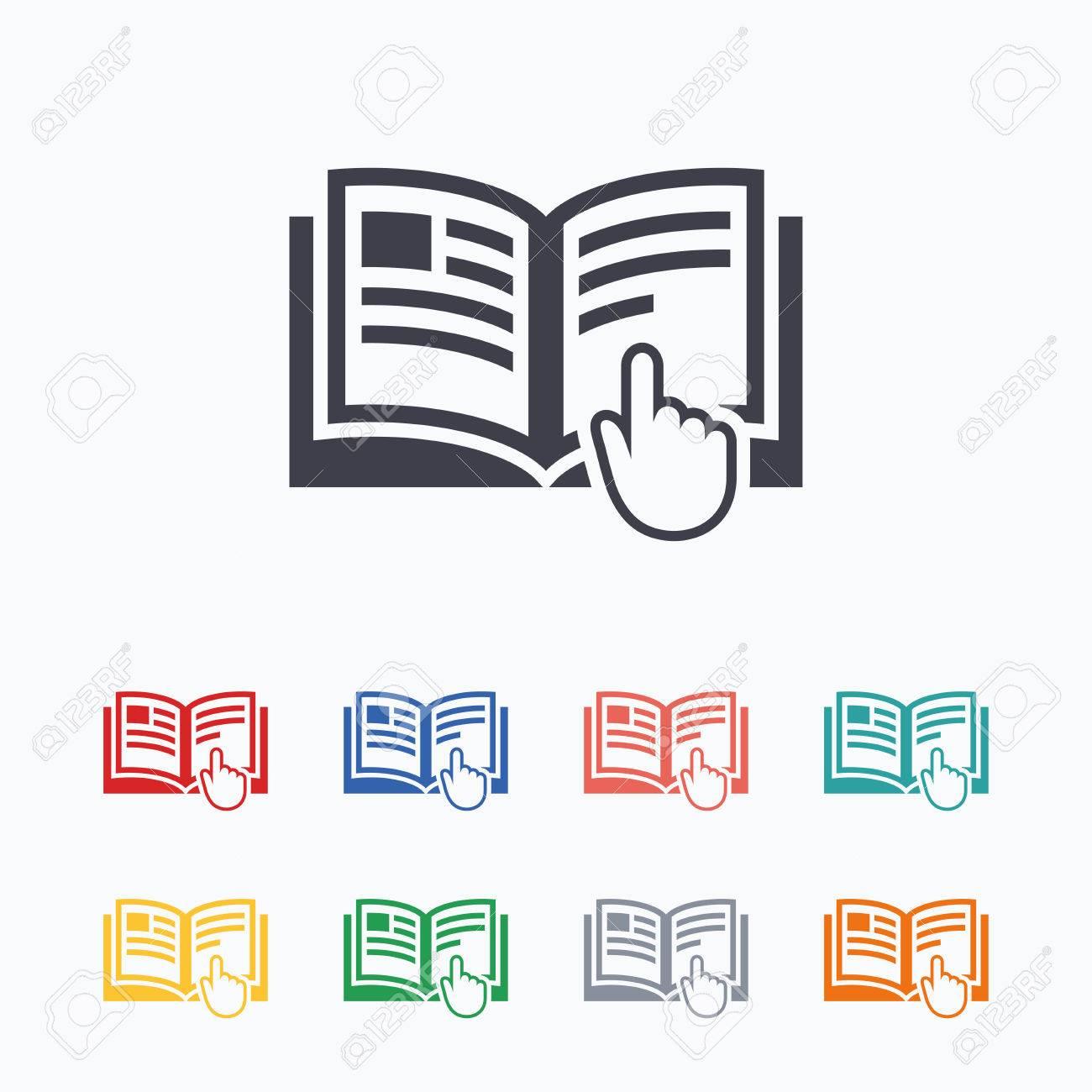 Instruction Signe Icone Manuel Symbole De Livre Lire Avant L Utilisation Icones Plates De Couleur Sur Fond Blanc
