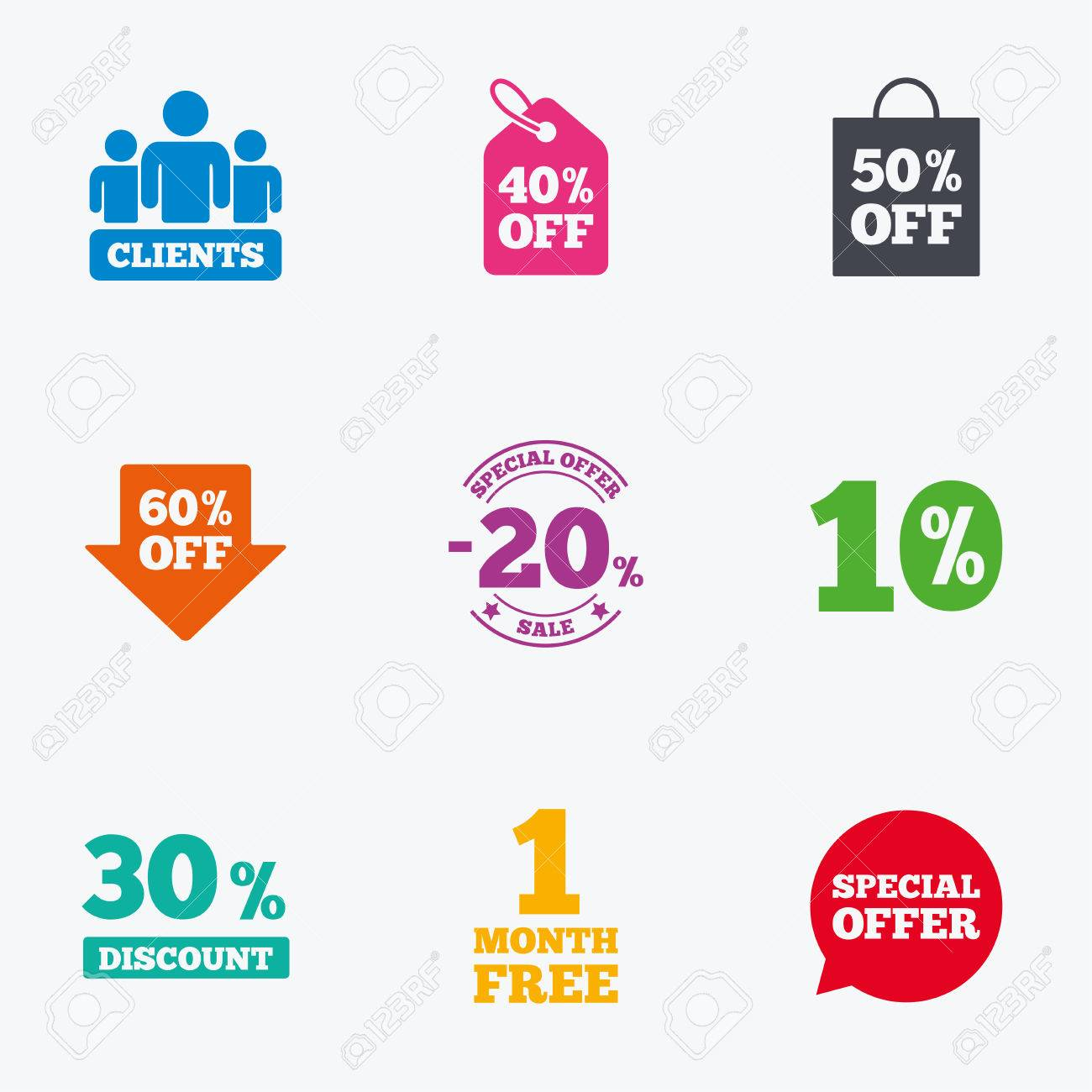 Sale discounts icon shopping clients and speech bubble signs shopping clients and speech bubble signs 20 30 buycottarizona