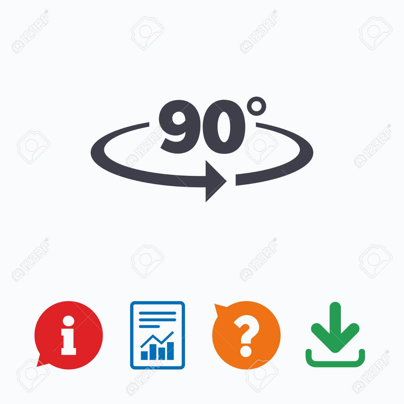 Angle 90 Degrees Sign Icon Geometry Math Symbol Right Angle