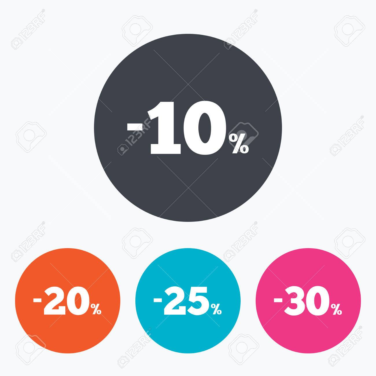 Sale Discount Icons. Special Offer Price Signs. 10, 20, 25 And ...
