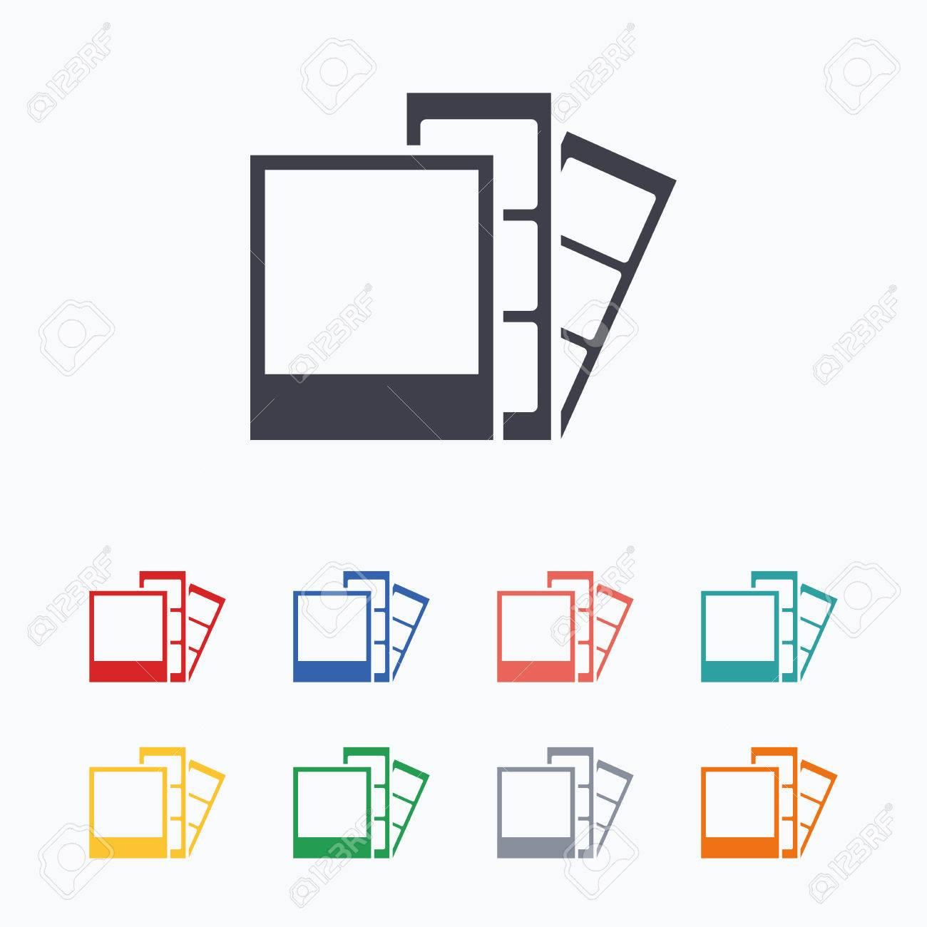 Foto-Rahmen-Vorlage Symbol. Photo Booth Streifen Symbol. Farbige ...