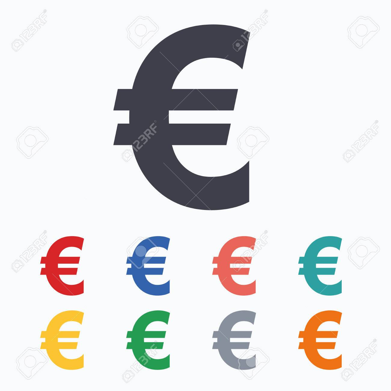 Euro sign icon eur currency symbol money label colored flat euro sign icon eur currency symbol money label colored flat icons on white buycottarizona Gallery