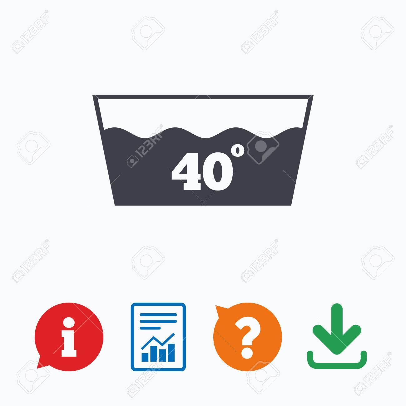 Wash Icon Machine Washable At 40 Degrees Symbol Information