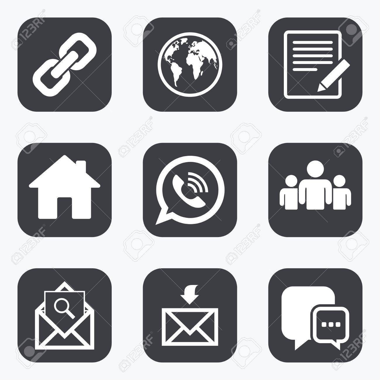 Communication Icons Contact Mail Signs E Mail Call Phone