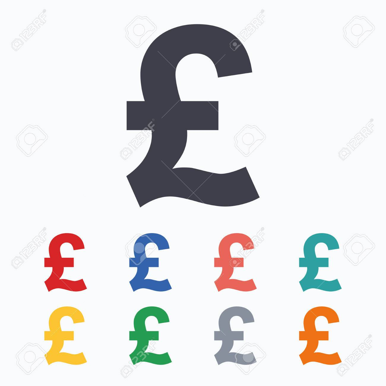 Pound sign icon gbp currency symbol money label colored flat pound sign icon gbp currency symbol money label colored flat icons on white buycottarizona Choice Image
