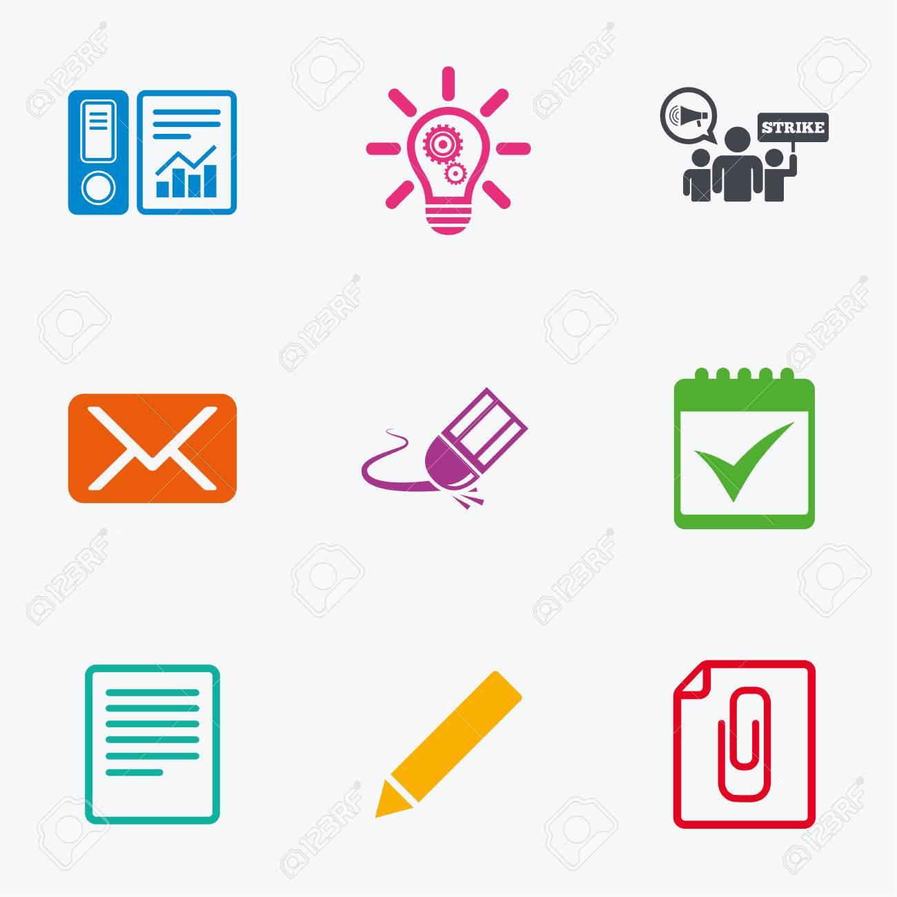 Calendario Segni.Office Documenti E Icone Del Mondo Contabilita Sciopero E Calendario Segni Mail Idee E Simboli Statistiche Piatte Colorate Icone Grafiche