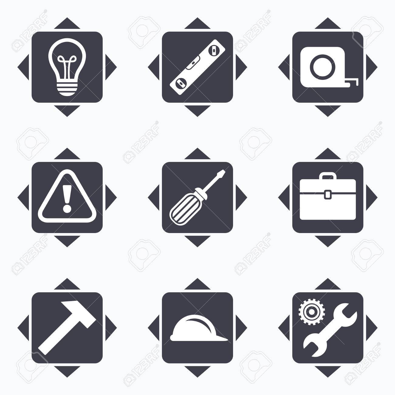 Icons With Direction Arrows Repair Construction Icons Engineering