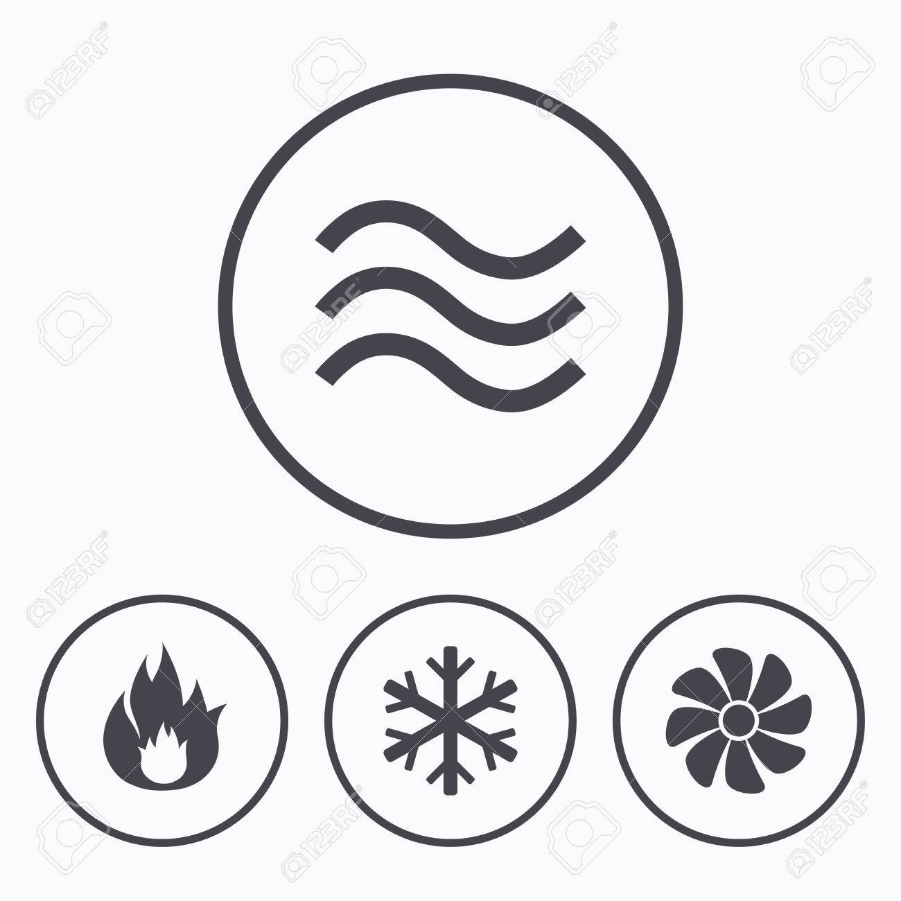 Hvac Symbols Drawing Legend Icons Heating Ventilating And Air Conditioning