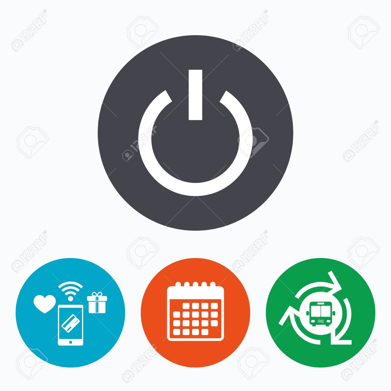 Power Sign Icon. Switch On Symbol. Turn On Energy. Mobile Payments ...
