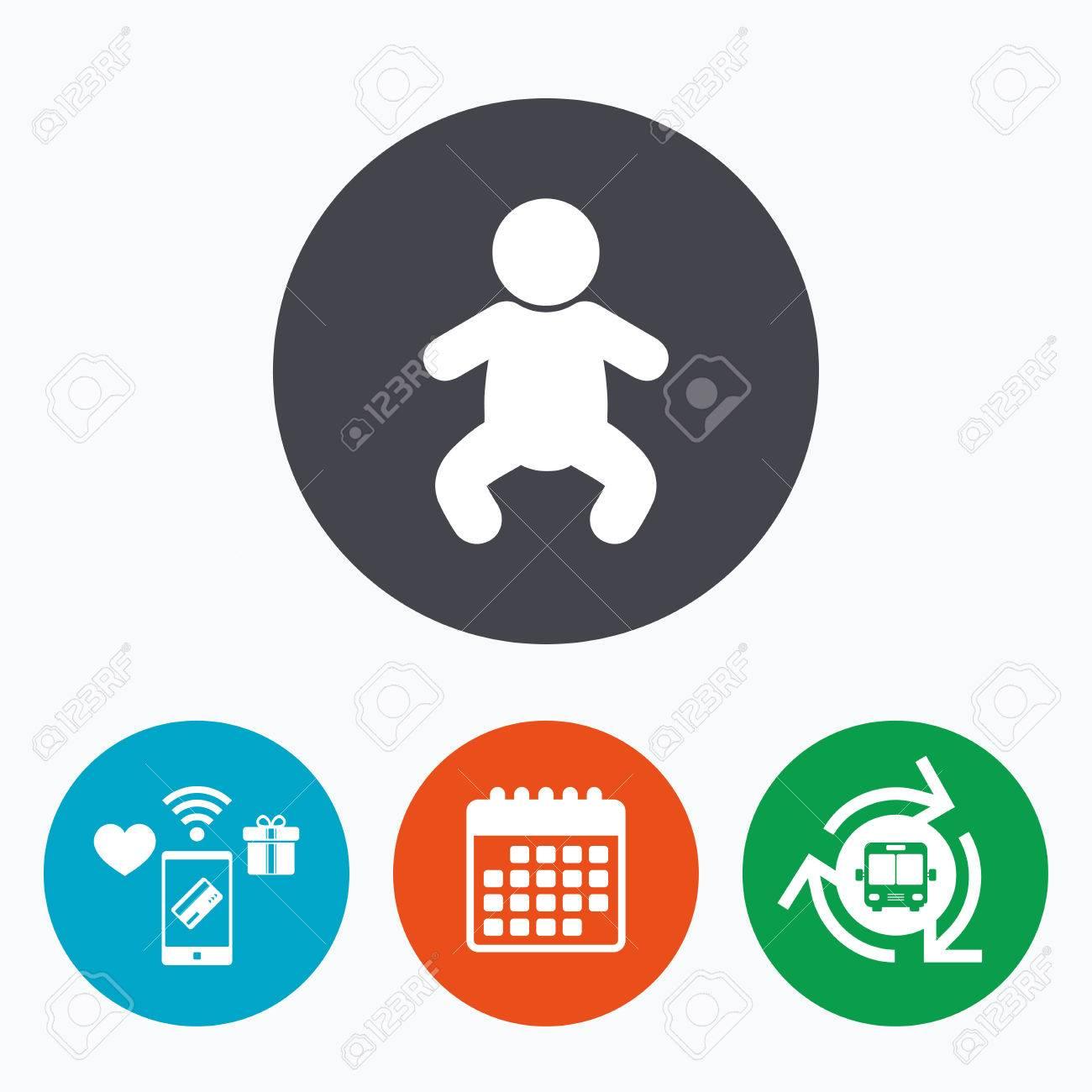 Baby Kind Zeichen Symbol Kleinkind Junge Im Pyjama Oder Crawlern