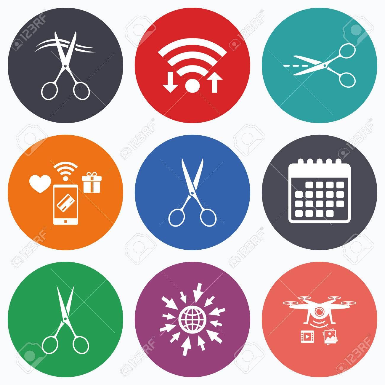 Wifi Les Paiements Mobiles Et Les Drones Ic Nes Ciseaux Ic Nes