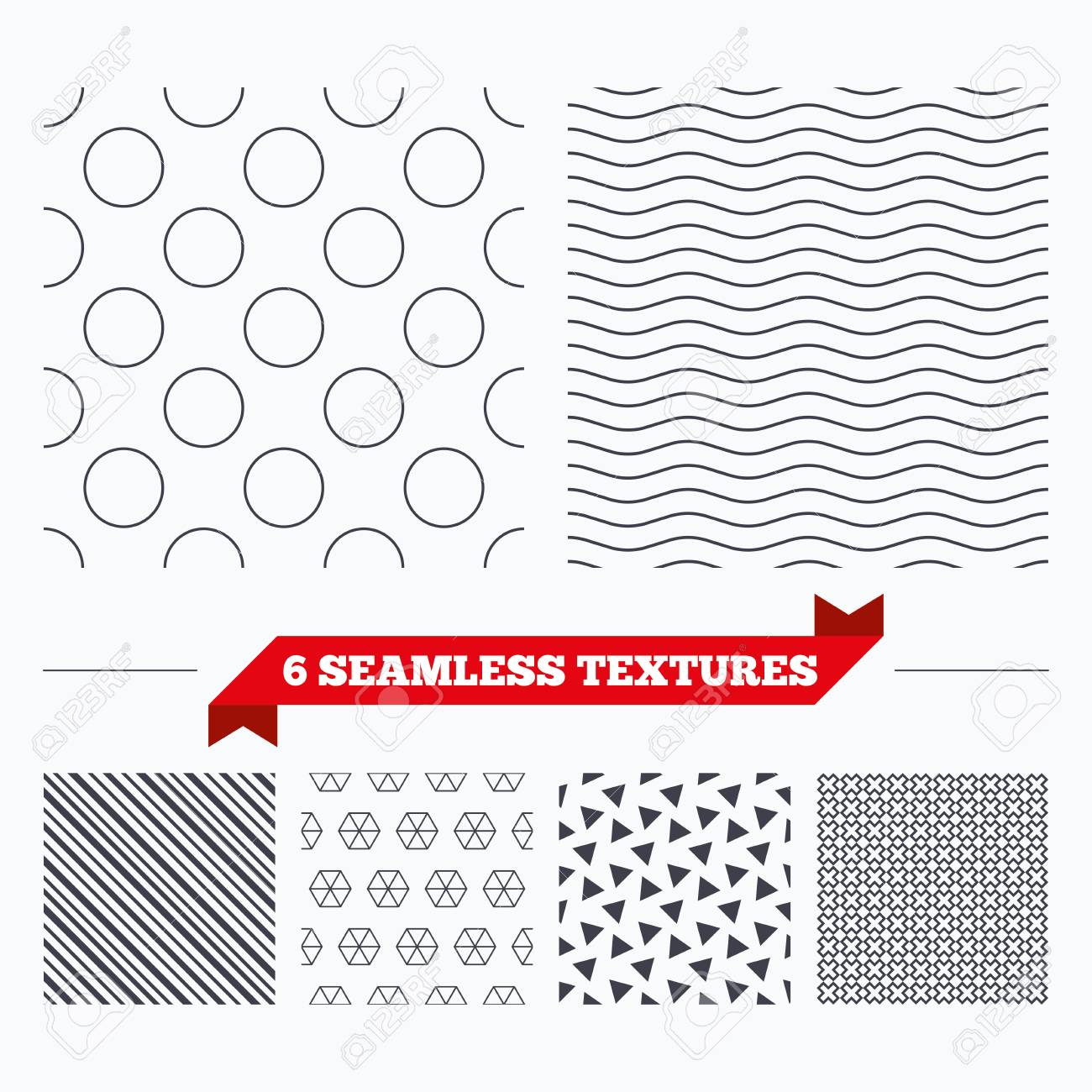 Diagonal lines, waves and geometry design  Circles texture  Stripped