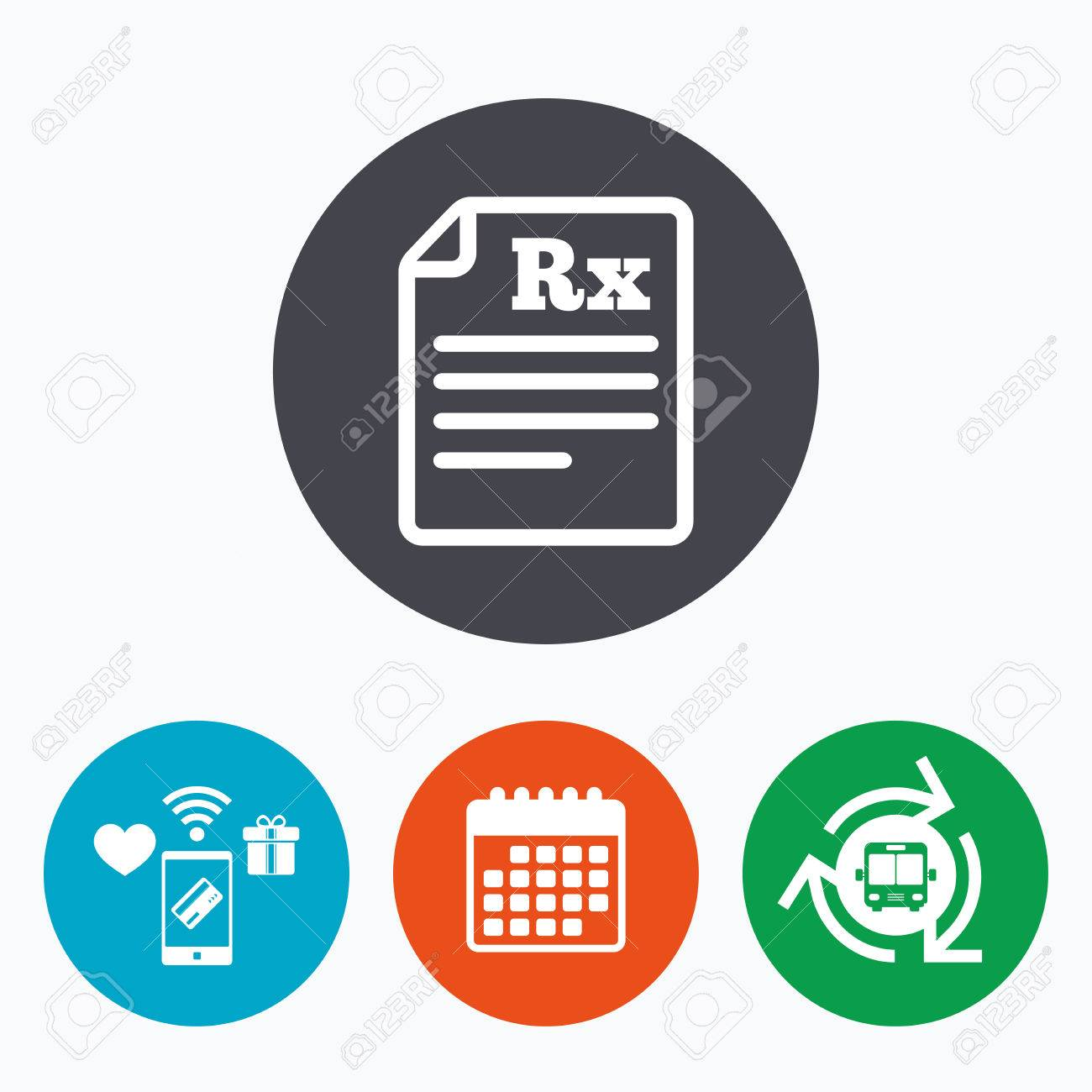Medical prescription rx sign icon pharmacy or medicine symbol medical prescription rx sign icon pharmacy or medicine symbol mobile payments calendar and buycottarizona