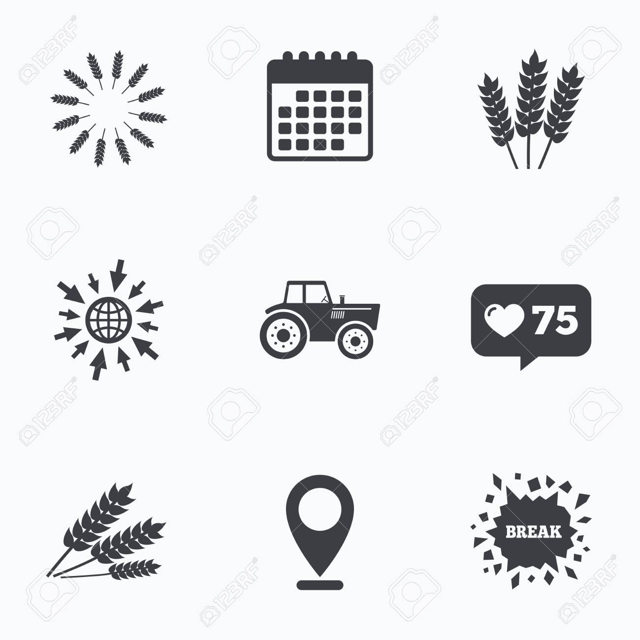 Calendar like counter and go to web icons agricultural icons calendar like counter and go to web icons agricultural icons wheat corn or buycottarizona Choice Image