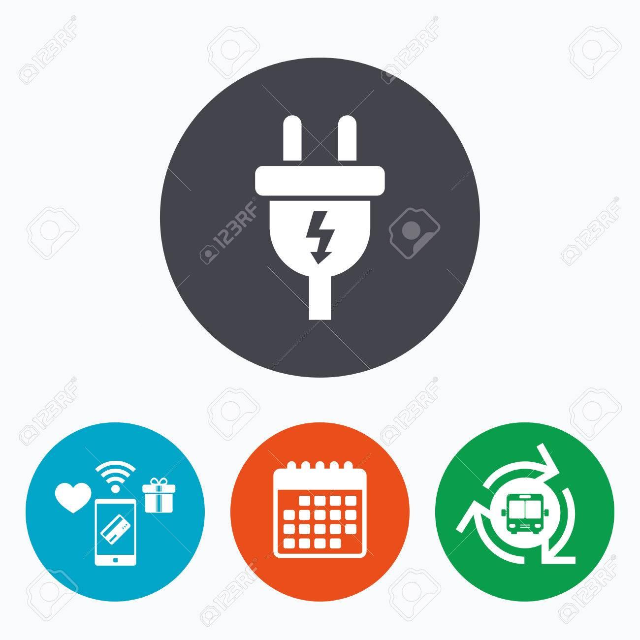 Electric plug sign icon power energy symbol lightning sign power energy symbol lightning sign mobile payments calendar biocorpaavc Choice Image