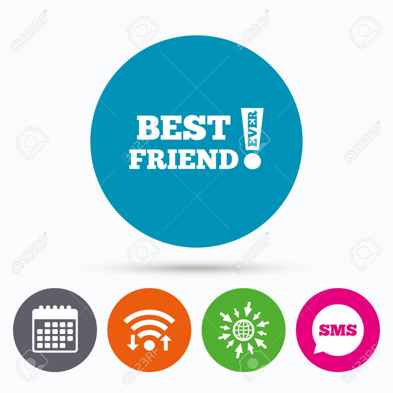 Wifi sms and calendar icons best friend ever sign icon award wifi sms and calendar icons best friend ever sign icon award symbol biocorpaavc