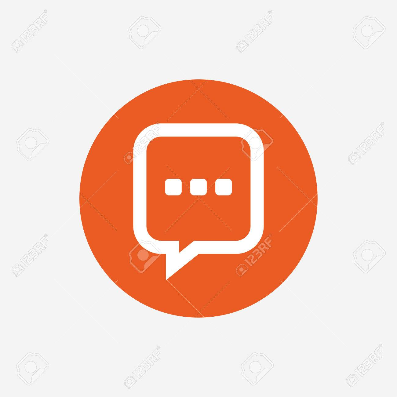 Chat sign icon speech bubble with three dots symbol speech bubble with three dots symbol communication chat bubble orange biocorpaavc