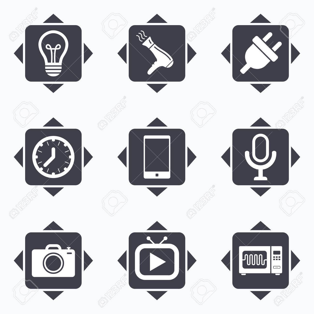 Icons Mit Richtungspfeilen. Haushaltsgeräte, Geräte-Icons ...