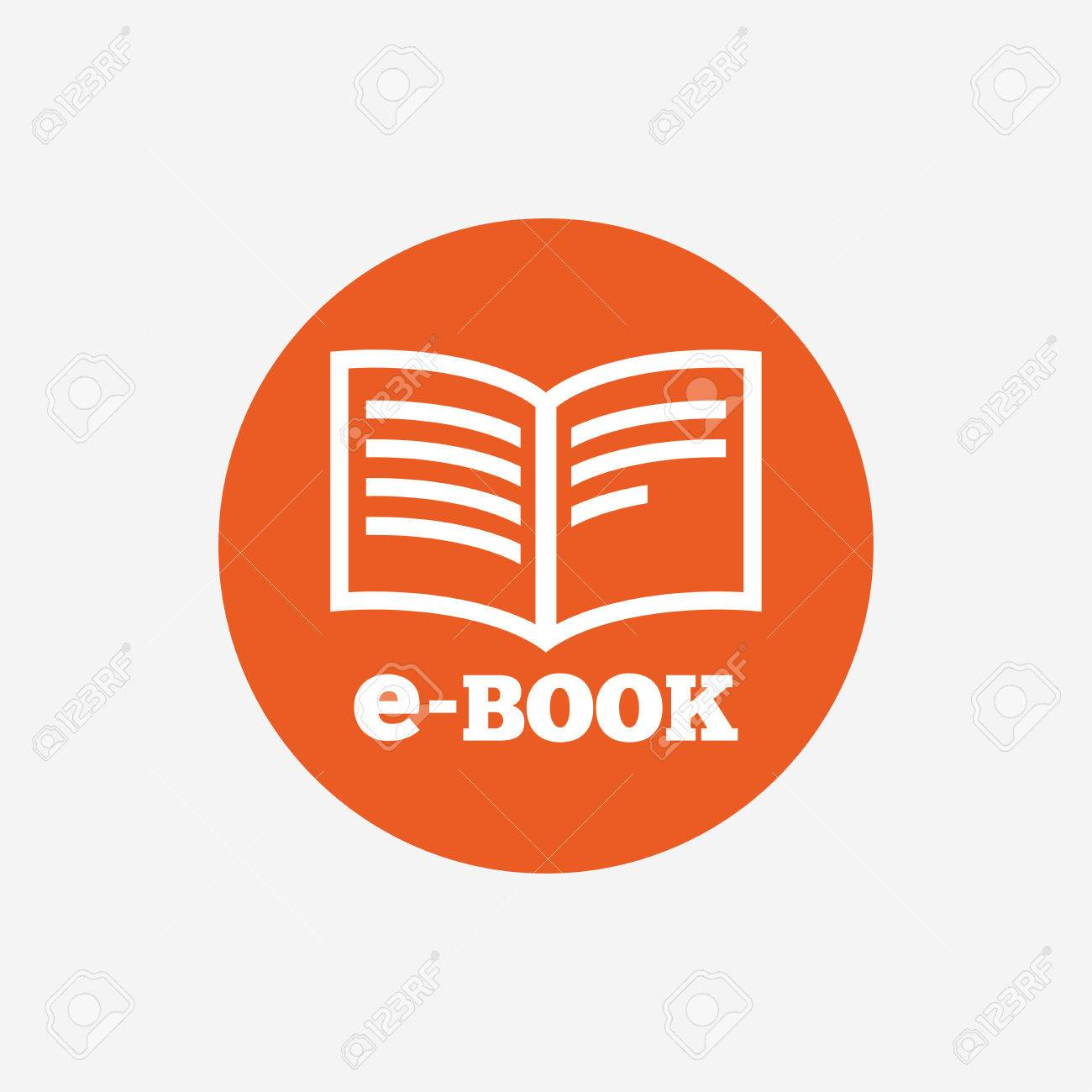 E-Book-Zeichen-Symbol. Elektronische Buchsymbol. Ebook-Lesegerät ...