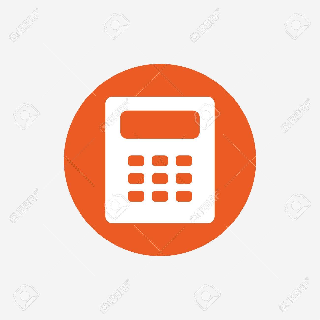 Icono De La Muestra De La Calculadora. Símbolo De La Contabilidad ...