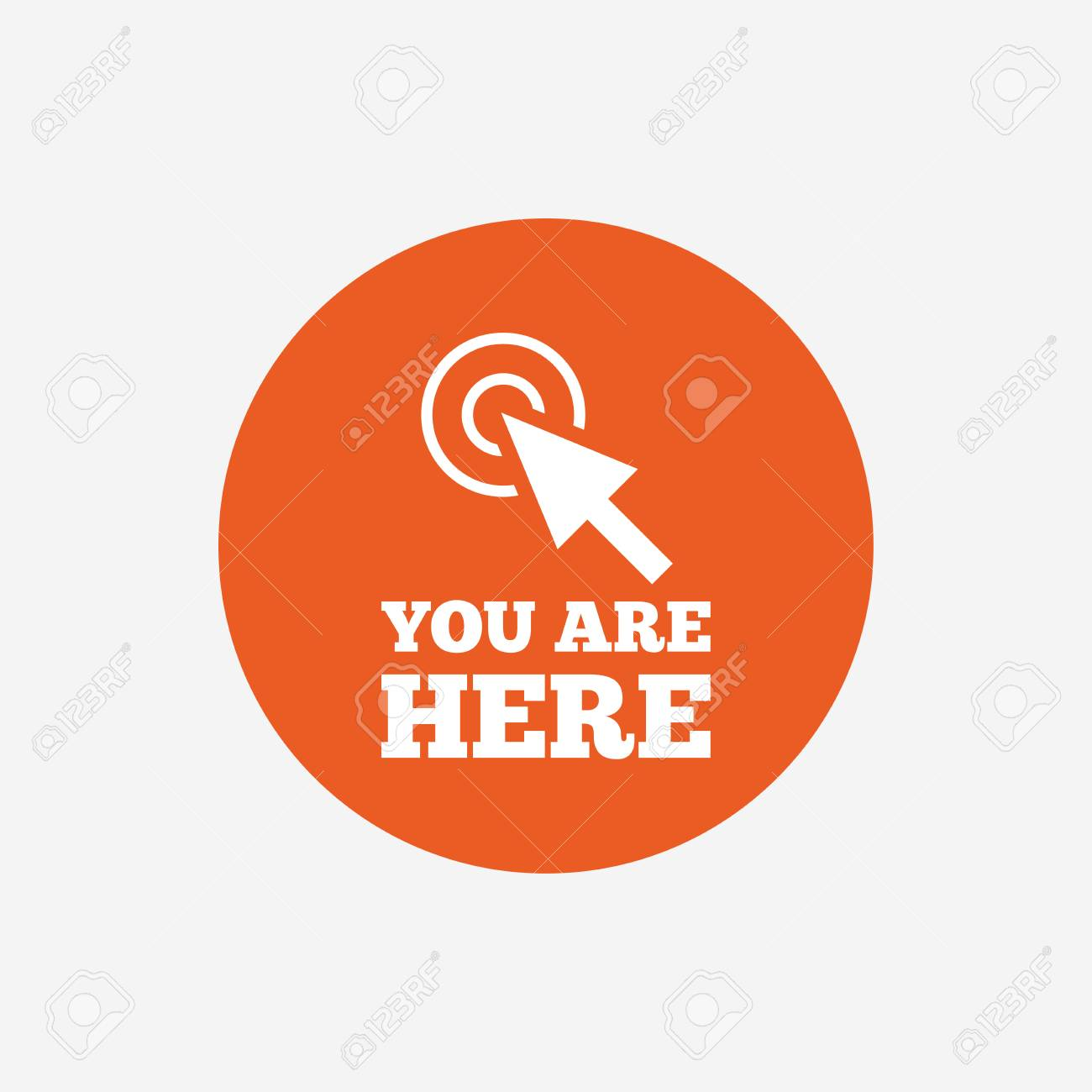You Are Here Sign Icon Info Cursor Symbol Map Pointer With
