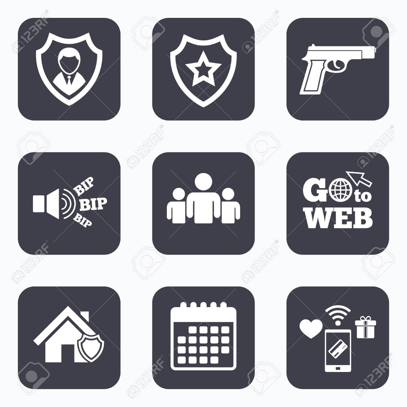 Mobile payments wifi and calendar icons security agency icons mobile payments wifi and calendar icons security agency icons home shield protection symbols biocorpaavc