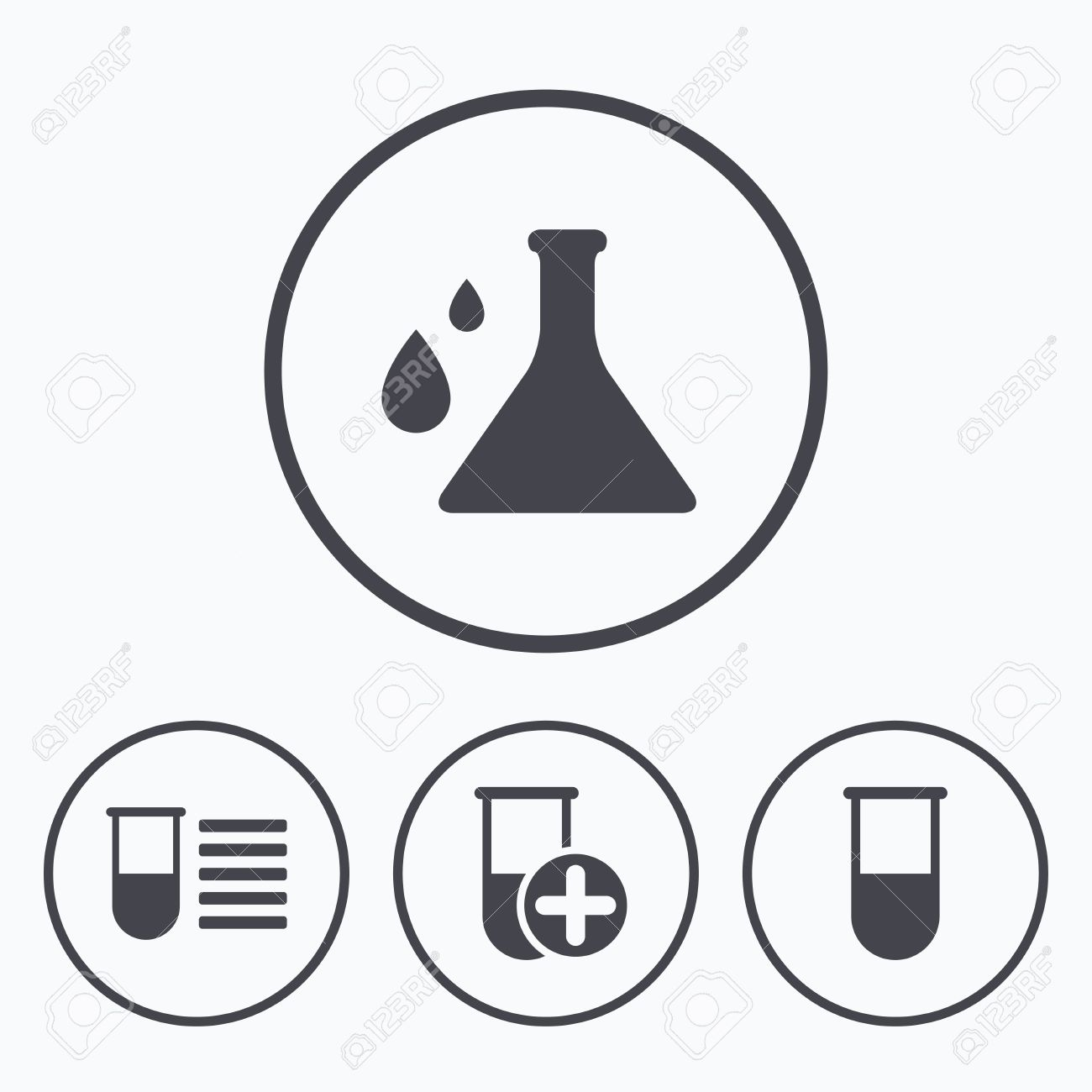 Chemistry bulb with drops icon medical test signs laboratory chemistry bulb with drops icon medical test signs laboratory equipment symbols icons in buycottarizona