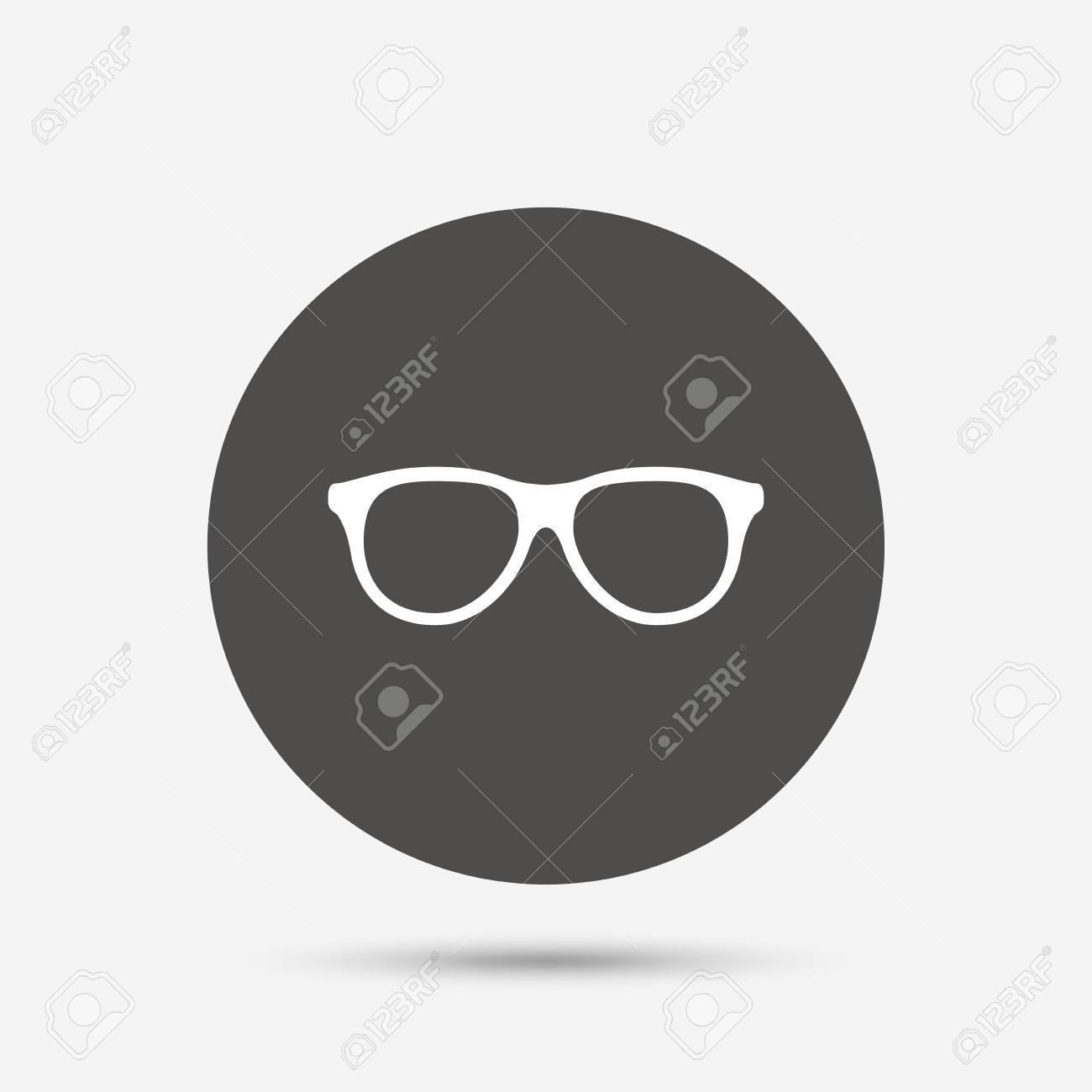 Gafas Retro Icono De La Muestra. Símbolo De Montura De Gafas. Botón ...