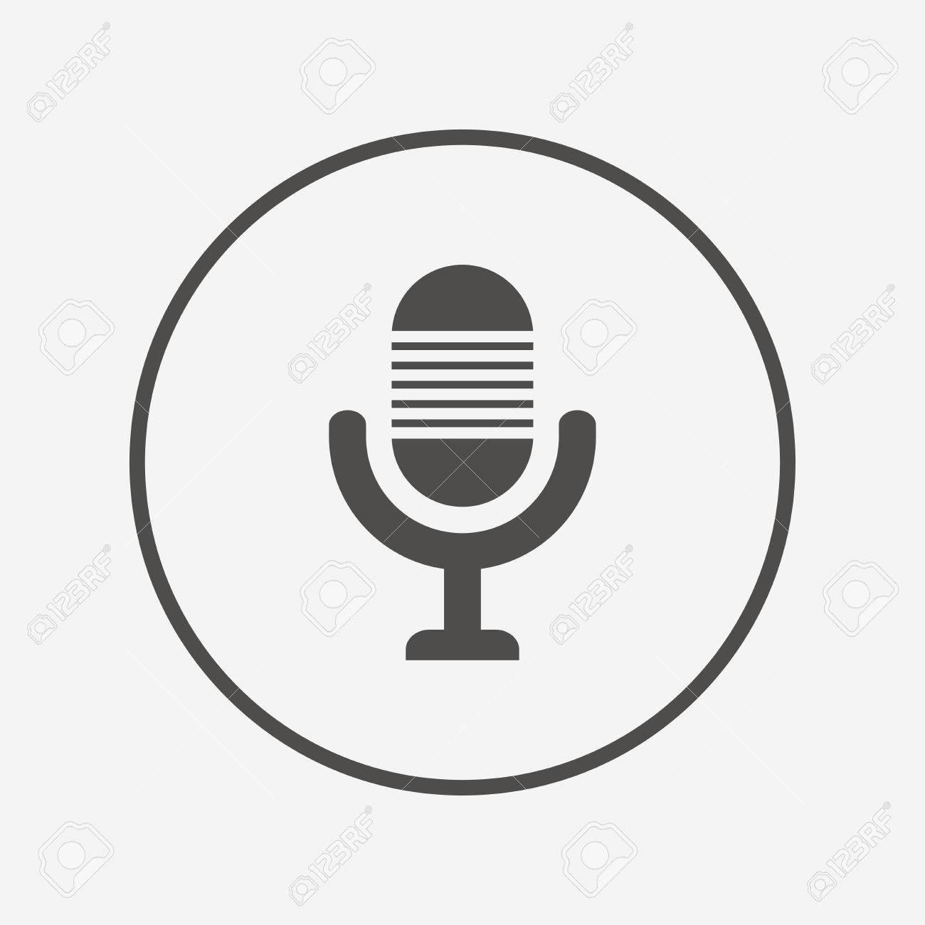 Microphone Icon. Speaker Symbol. Live Music Sign Flat Microphone ...