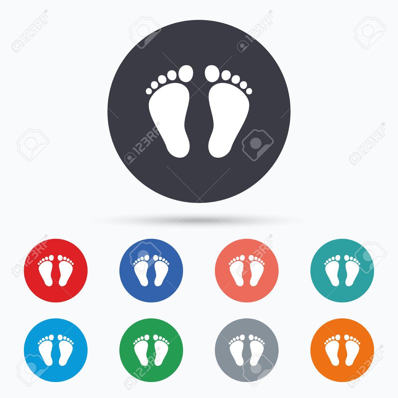Kinder Paar Fußabdruck Zeichen-Symbol. Barfuß. Wohnung Fußabdruck ...