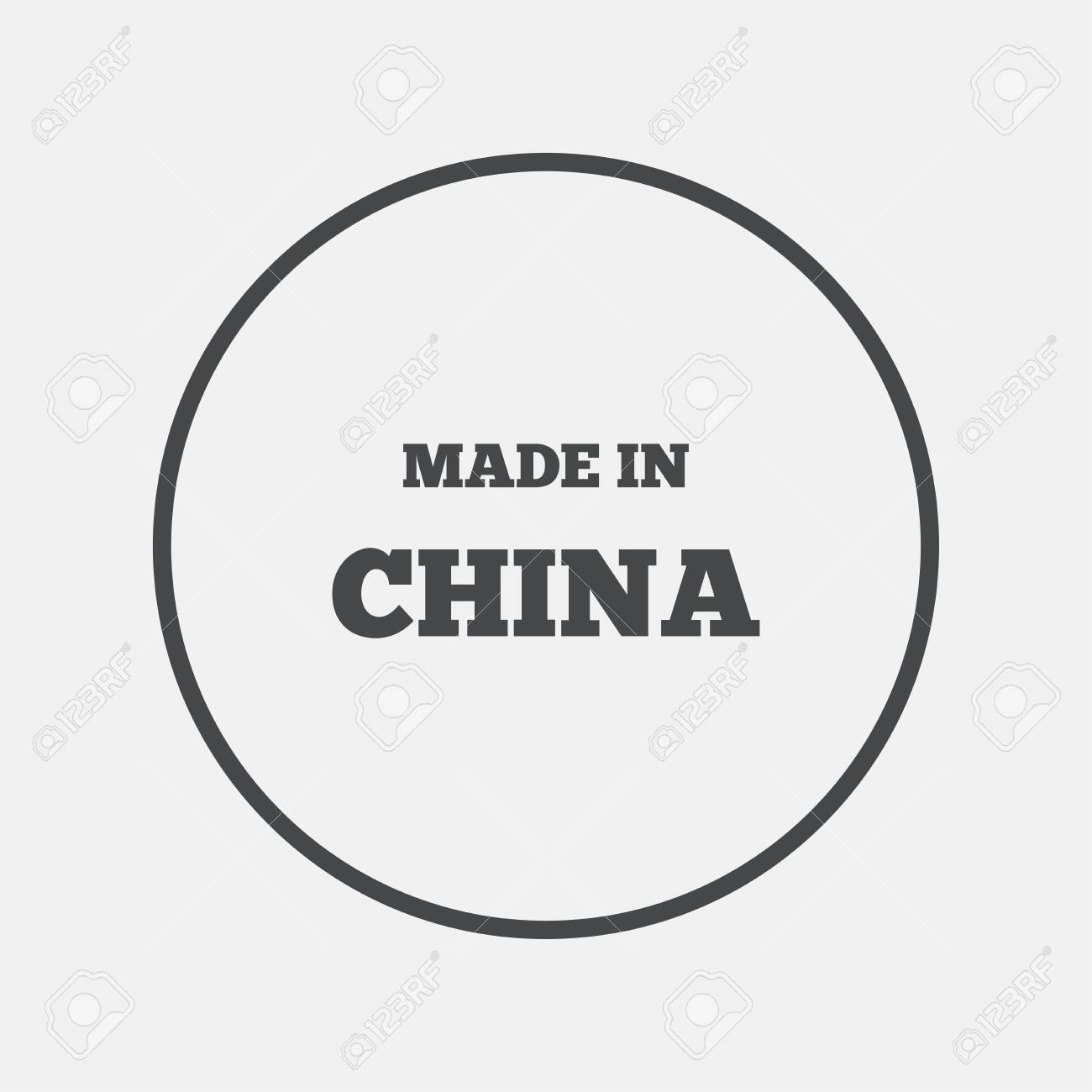 Made In China Icon Export Production Symbol Product Created