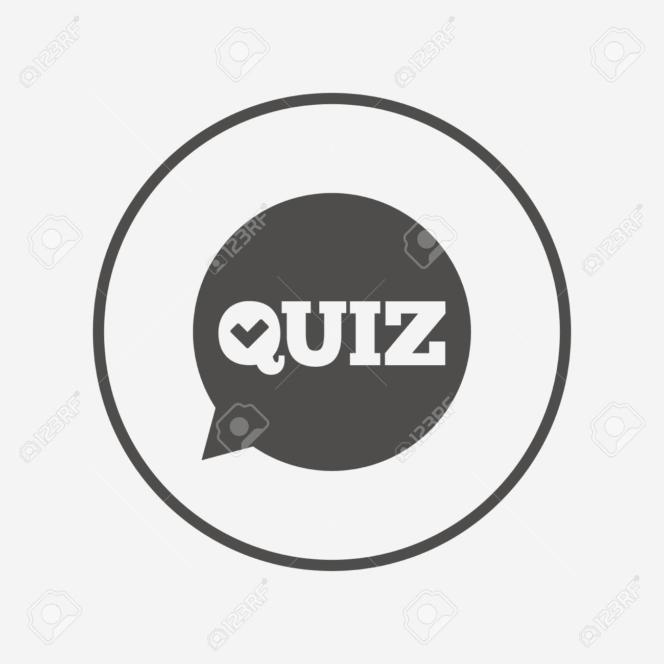 Quiz Sign Icon Questions And Answers Game Flat Quiz Icon Simple